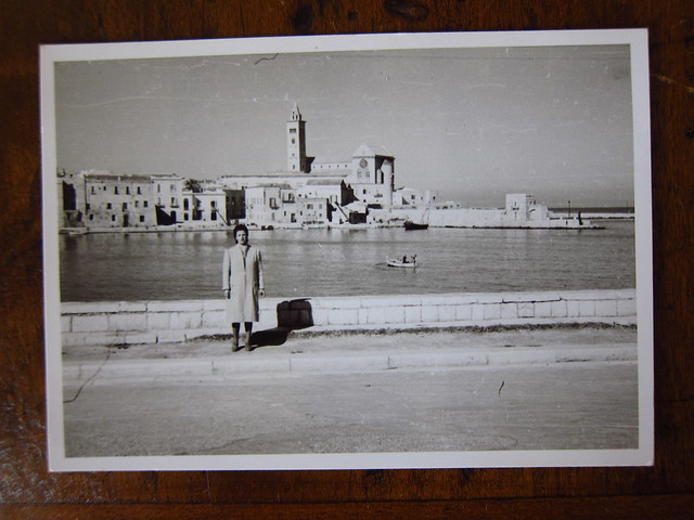 Rachele Carbone (my Great Grandmother) at the Port in Trani