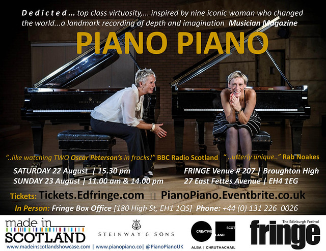 PianoPiano at Made In Scotland for Edinburgh Festival FRINGE