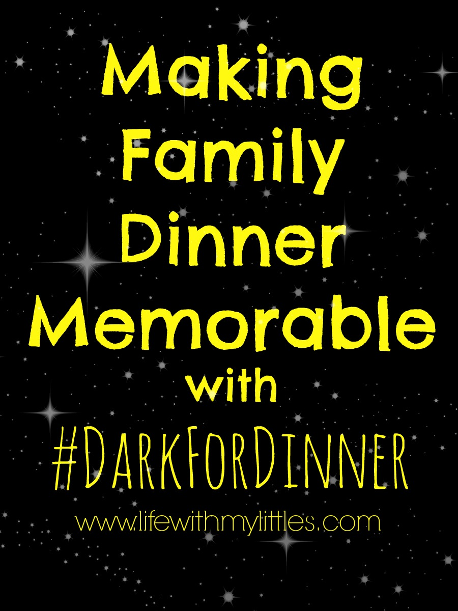 How to make your family dinner more memorable with #DarkForDinner. Plus a printable list of questions to ask your family!