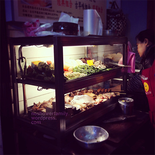 cold braised food in night market