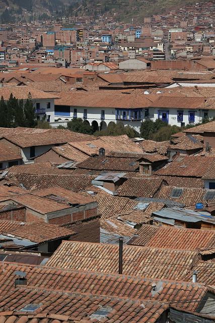 View from Balcon del Qosqo.  Cusco, Peru.
