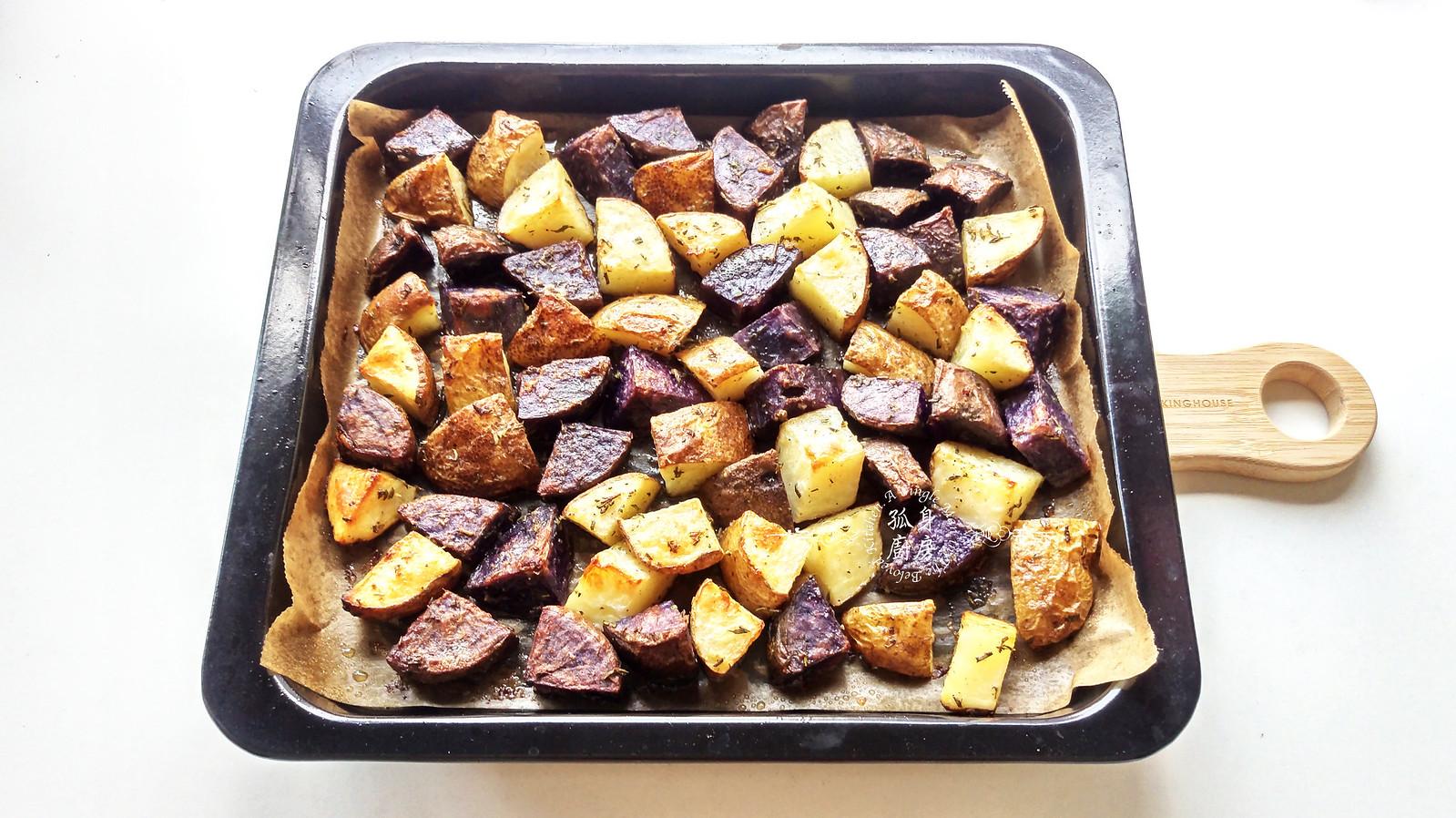 孤身廚房-香草烤雙色馬鈴薯──好吃又簡單的烤箱料理13