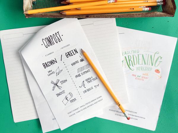 compost cheat sheet
