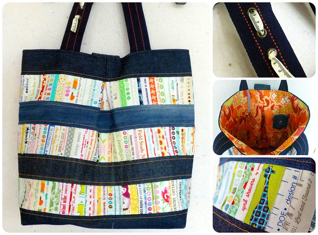 repurposed denim & selvedge bag