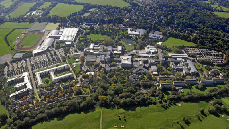 Aerial picture of the University's Claverton Down Campus