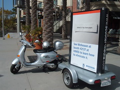 Small-scale mobile advertising