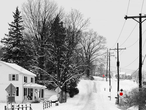 road york winter house snow cold pennsylvania gorgeous country pa 888v8f