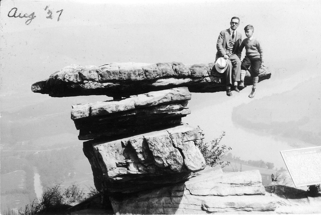 Drummond and son on rock