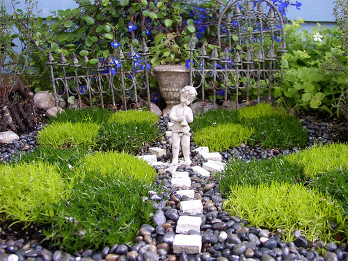 formal minature garden