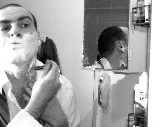 Self-Portrait Shaving