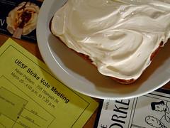 cake(0.0), meal(1.0), breakfast(1.0), buttercream(1.0), whipped cream(1.0), food(1.0), icing(1.0), dish(1.0), cream cheese(1.0), dessert(1.0), cuisine(1.0), cream(1.0),