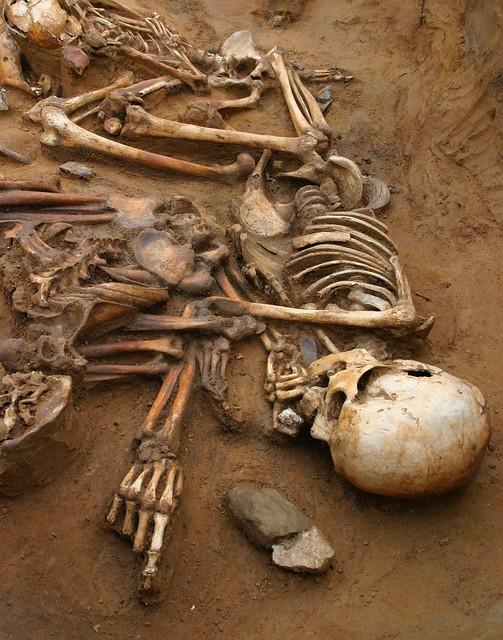 Cliffs End Farm - skeleton of an old man