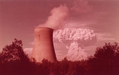 Eruption taken near Trojan Nuclear plant