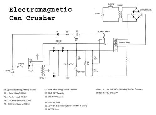 Circuit Diagram Physics Can Crusher Circuit Diagram