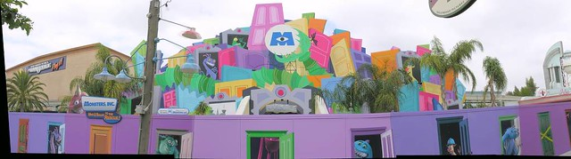 Monsters, Inc. Facade During Construction