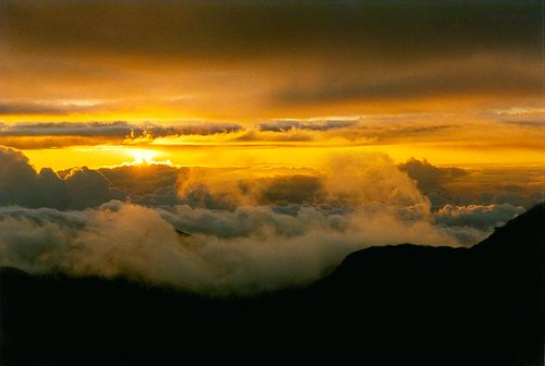 Sunrise from Mount Haleakala, Maui, Hawaii