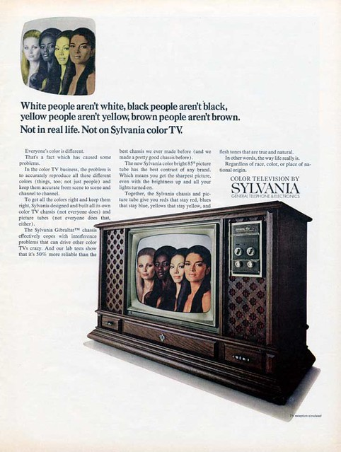 Sylvania - Color Television – White people aren't white