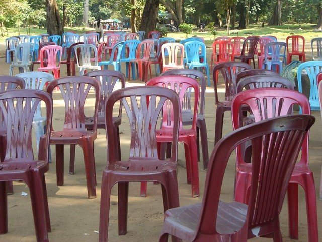 plastic chair forest
