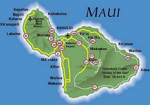 Maui, Hawaii Map | Flickr - Photo Sharing!