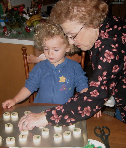 Baking cookies with Nonna
