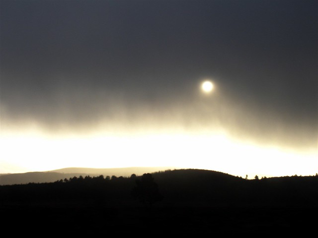 Winter sun through rolling clouds - 1