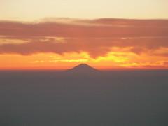 夕焼けの富士(2)