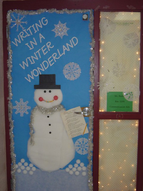 Winter Wonderland Classroom Door Decorations : Writing in a winter wonderland the student council had