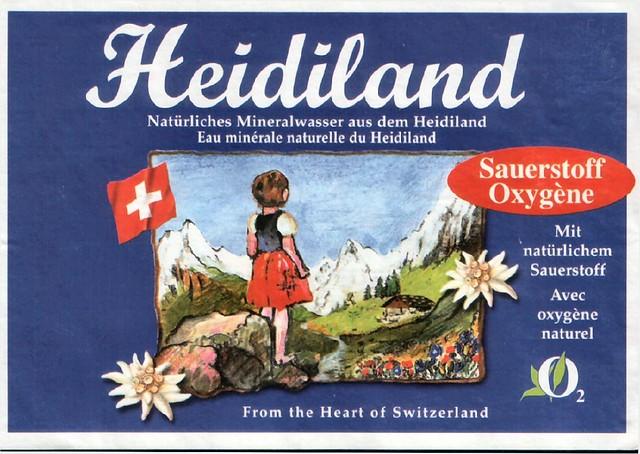 Heidiland Mineral water from Switzerland