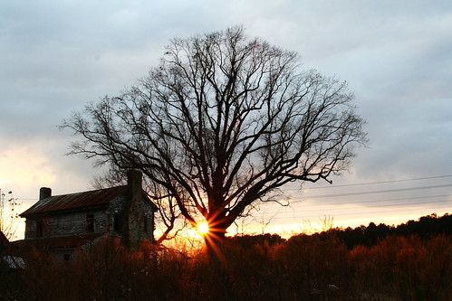 Old House Sunset