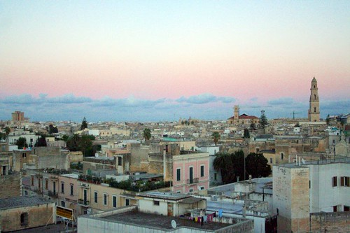 panorama of lecce, italy