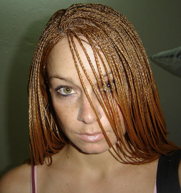 micro braid hairstyle for white girl