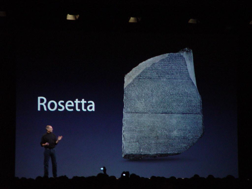 Apple's Rosetta Stone