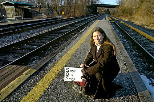 Brenda Klaunberg, advocating for the train