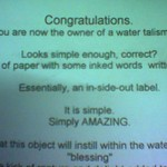 water talisman instructions
