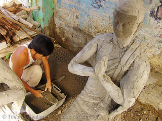 4811 - vietnam - Buddha Statue made in statue factory - concrete