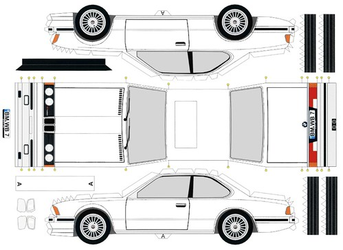 Papercraft Bmw Wb7 In White Flickr Photo Sharing