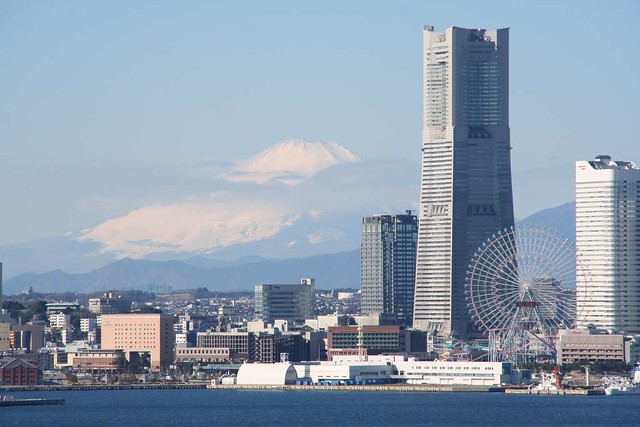 Mt. Fuji from Yokohama.
