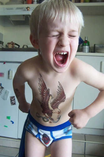 Kid with tattoo
