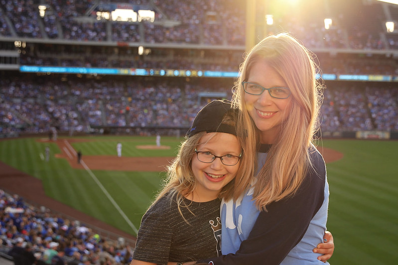 Lucy and Mama at the Royals Game
