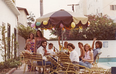 California days, 1970's, by the poolside