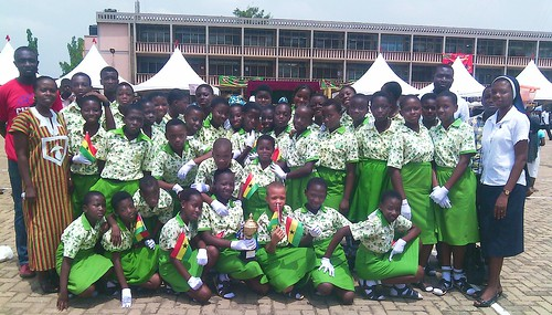 The 58th Ghana Independence Day is celebrated at the St Louis Jubilee School Kentinkrono in 2015