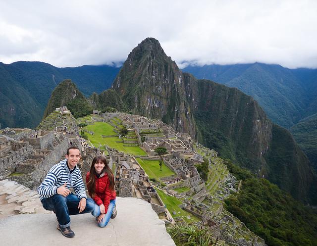 Miguel y Diana en Machupicchu