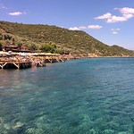 Assos の画像. life blue sea vacation sky holiday green beach nature water port swim turkey landscape turquoise assos behramkale