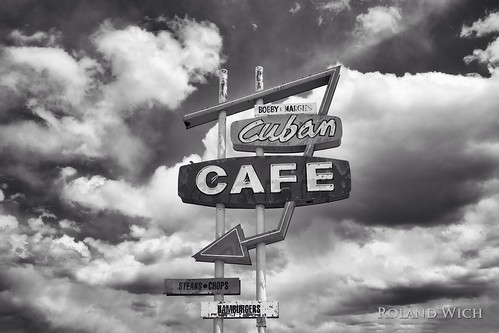 new usa white black southwest monochrome sign mexico restaurant cafe desert cuba nm cuban cubab