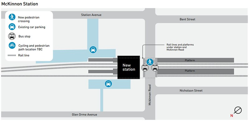 Plan for new Mckinnon station (as at May 2015)
