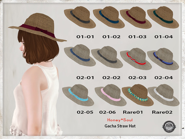 **Honey*Soul Gacha Straw Hat