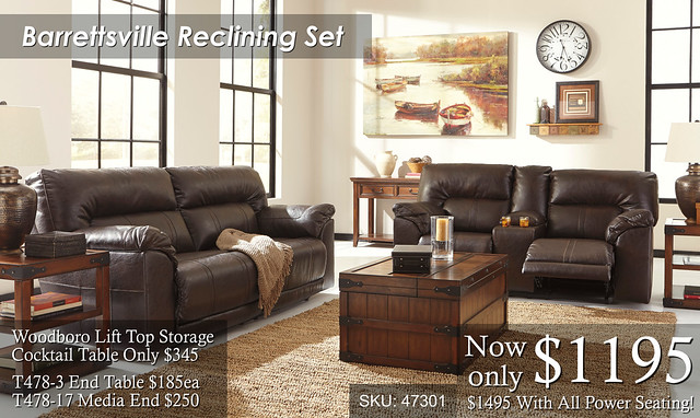 Barrettsville Reclining Set NEW