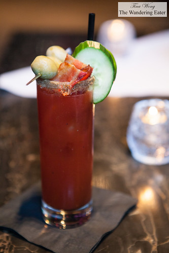 Bacon Virgin Caesar - Clamato, bacon, spices
