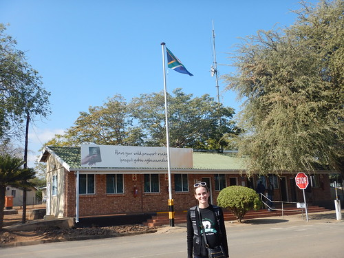 Chilling in Front of Immigration out of South Africa