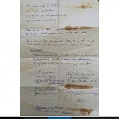 Manuscrito de Herbert Vianna com a letra de SKY, de 1984. #AplausoBlogAuroradeCinema #Paralamas #ParalamasForever @osparalamas #herbertvianna #HerbertViannaaéOCara #letrasdeherbertvianna #osparalamasdosucesso